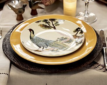 Img11m Pottery Barnu0027s Thanksgiving catalog features a set of pheasant salad plates. & Pheasant Plates from Pottery Barn - Shakadoo