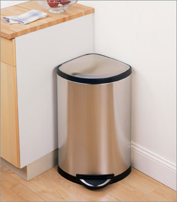 Corner Trash Can With Lid Interior Design Ideas